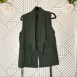 Sanctuary | Green Cargo Style Vest